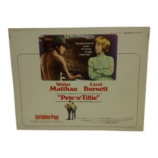"""Vintage Movie Poster for """"Pete 'N' Tillie"""" Starring Walter Matthau & Carol Burnett"""