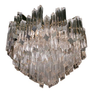 Camer Pyramid Shaped Glass Rod Chandelier