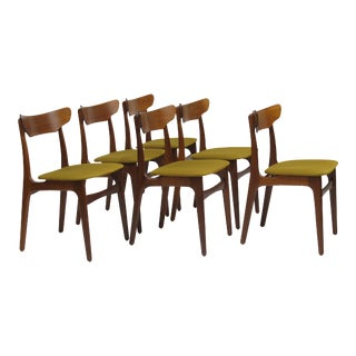 Schionning & Elgaard Danish Teak Dining Chairs, 20 Available