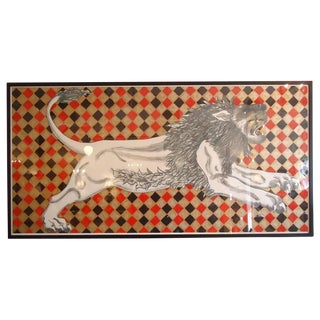 Lion Silkscreen Lithograph by Ned Smyth