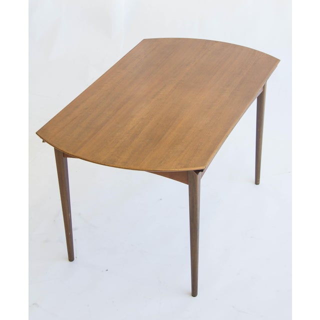Dux of Sweden Round Drop Leaf Dining Table - Image 7 of 10
