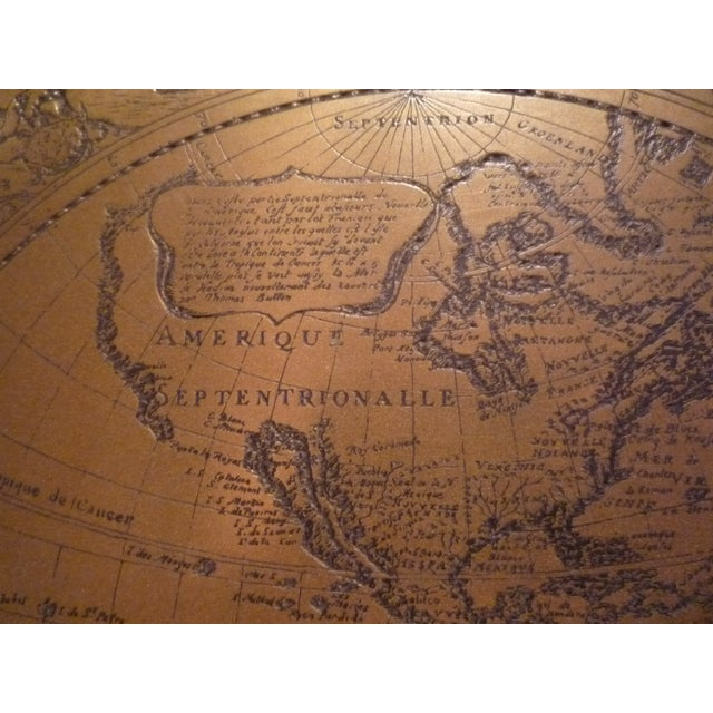 Image of Handmade Bronze Brass Map