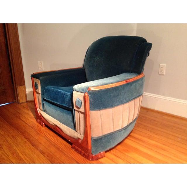 Art Deco Mohair Sofa & Armchair - A Pair - Image 6 of 11