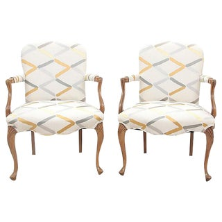 Louis XV Style Fauteuil - A Pair