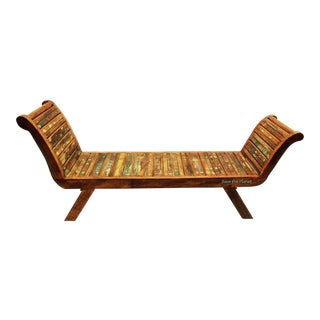 Bench / Lounge Chair Eco-Friendly Reclaimed Solid Wood