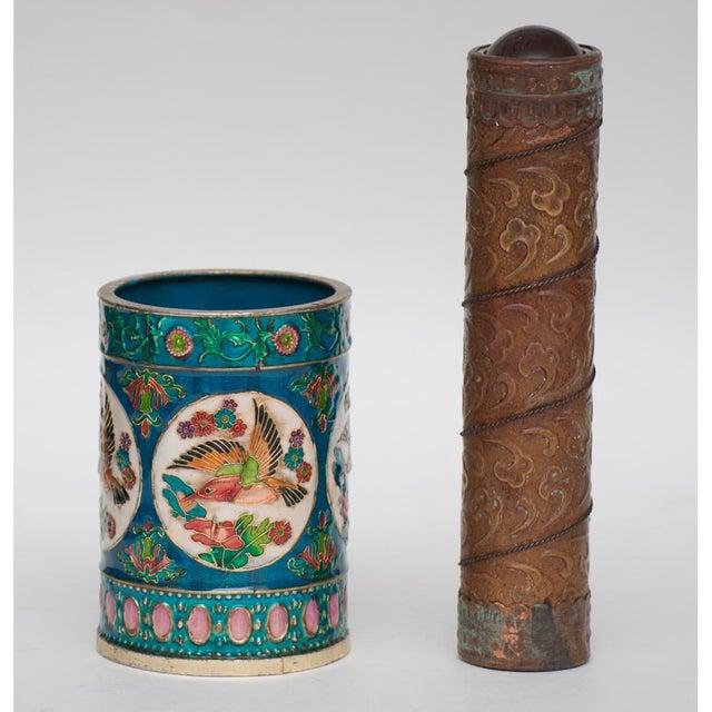 Vintage Peking Brush Pot & Kaleidoscope - Image 10 of 11