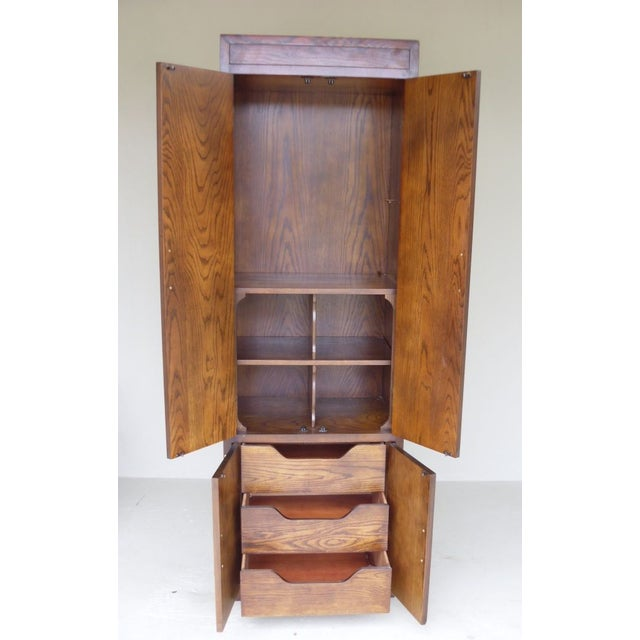 Image of Ethan Allen Walnut Tall Cabinet