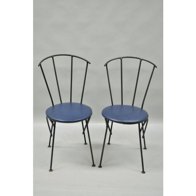 Mid-Century Modern Brutalist Iron Rebar Dining Chairs - Set of 4 - Image 3 of 11