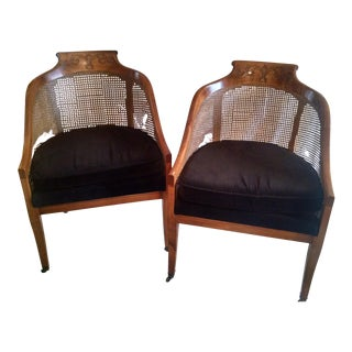 Antique Barrel Back Chairs - A Pair