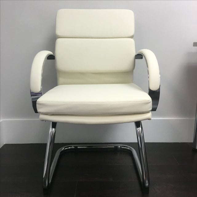 Modern Office Chairs in Vanilla - Set of 10 - Image 2 of 6
