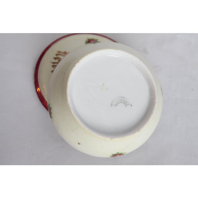 Image of Antique Victorian Newburgh, NY Porcelain Hair Receiver