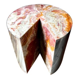 Final Markdown Pace Collection Red Jasper 'Pie' Side Table, 1970