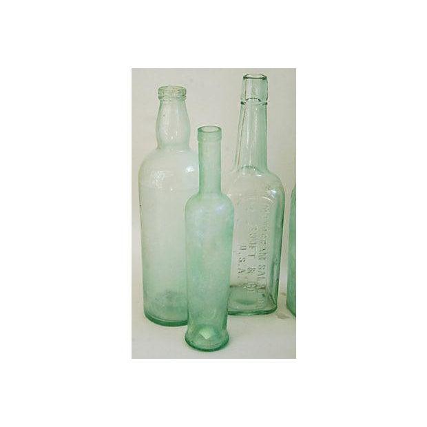 Pale Green-Blue Antique Bottles - Set of 8 - Image 5 of 8