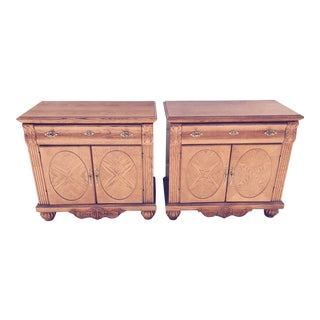 Modern Wood Nightstands - A Pair
