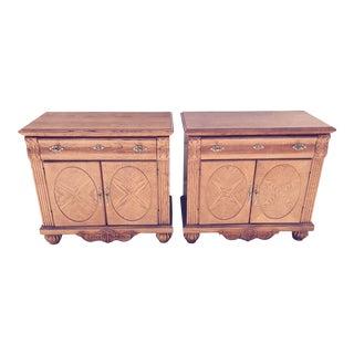 Modern Wood Nightstands - A Pair
