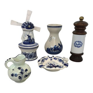 Vintage Delft Collection - Set of 5