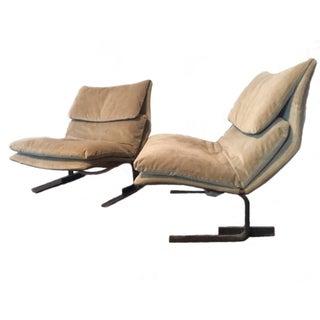 Restored Onda Lounge Chairs by Saporiti - Pair