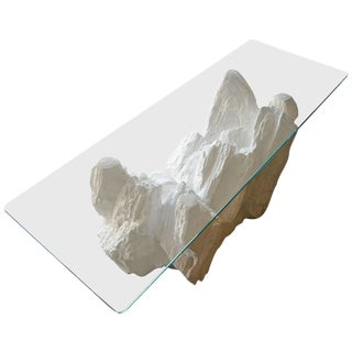 Plaster Rock Form Coffee Table