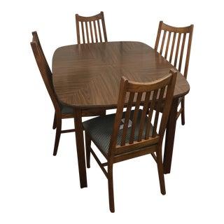 Mid-Century Wood Dining Set