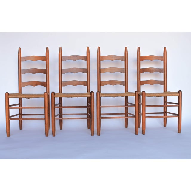 Ladder Back Dining Chairs - Set of 4 - Image 2 of 6