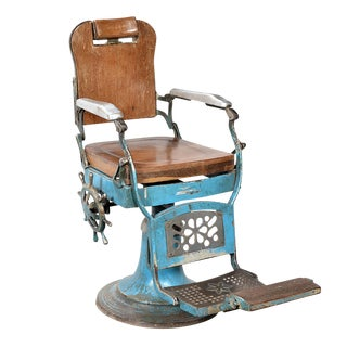 Vintage Wood & Iron Barber Chair
