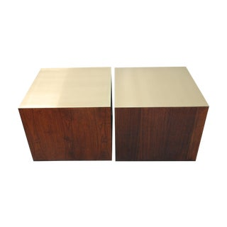 Harry Lunstead Cube Tables Re-Imagined in Brass