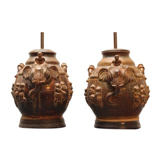 East Indian Elephant Lamps- A Pair