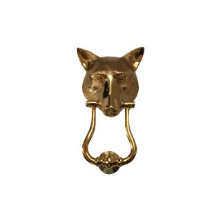 Solid Brass English Fox Head Door Knocker