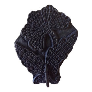 19th Century Printing Block Textile Hook