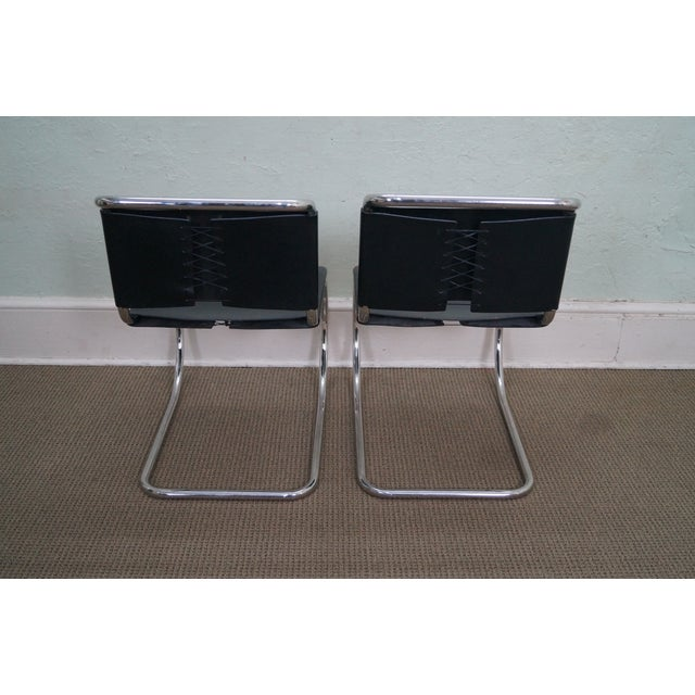 Knoll Mies Van Der Rohe Side Chairs - A Pair - Image 4 of 10