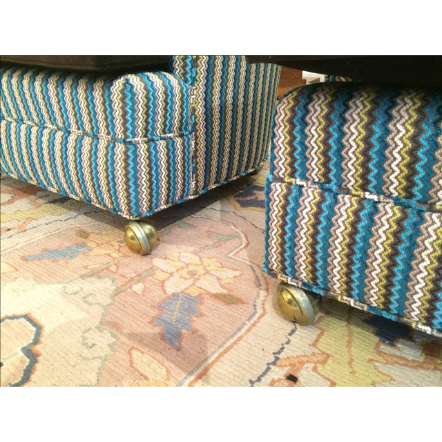Vintage Reupholstered Club Chairs - A Pair - Image 7 of 9