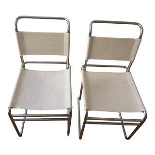 "Marcel Breuer Bauhaus ""B5"" Dining Chairs - a Pair"