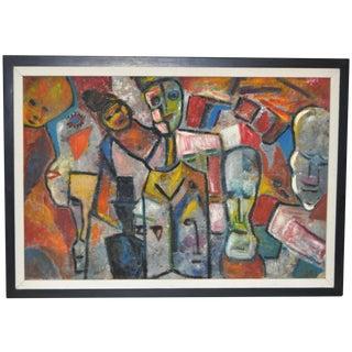 Frank Koci S.F. Beat Era Abstract Painting C.1950