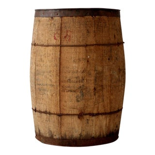 Vintage Wood Farm Barrel