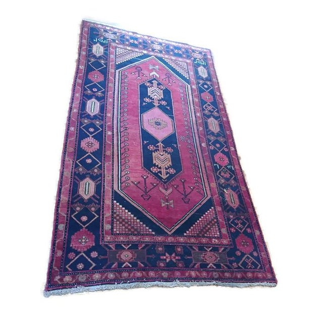 """Vintage Hand Knotted Turkish Rug - 4'11"""" x 8'11"""" - Image 1 of 10"""