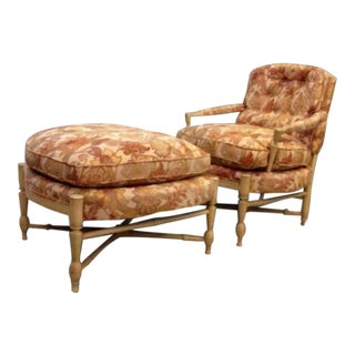 Vintage Baker Lounge Chair & Ottoman