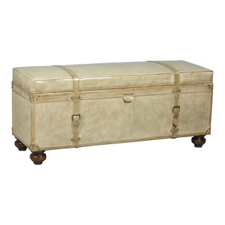 Sarried Ltd Pearl Leather Trunk Bench
