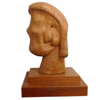 Large Goldstein Sculpture 'Head With Two Faces'