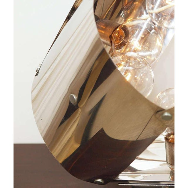 Chromed Metal Sculptural Table Lamp - Image 4 of 11