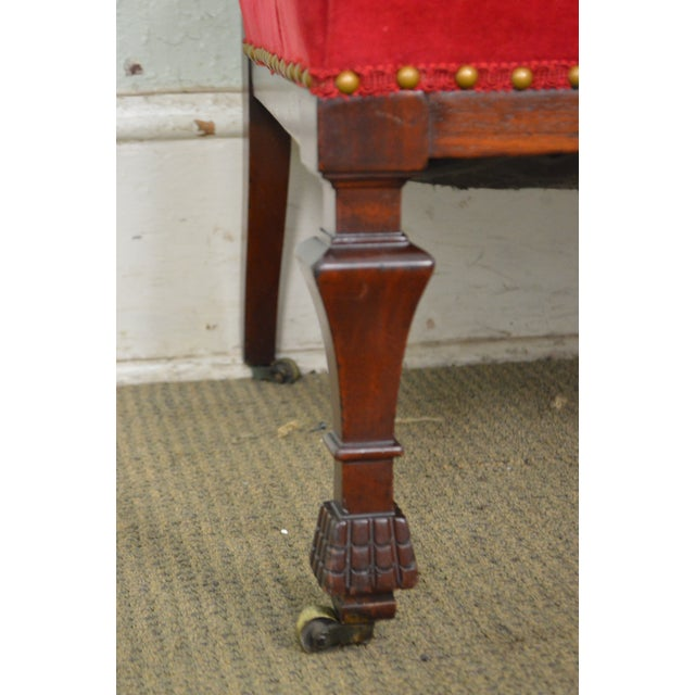 Antique 19th Century Aesthetic Mahogany Arm Chair (possibly Herter Brothers) - Image 5 of 11