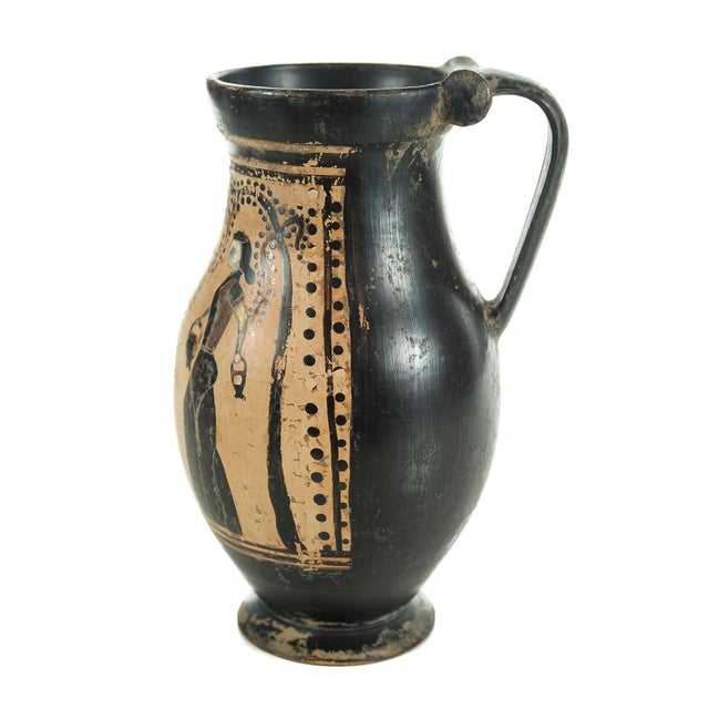 Ancient Greece Pottery Vase with Black Figure - Image 5 of 9