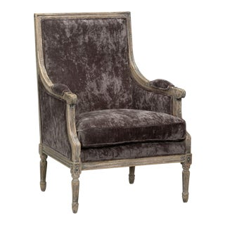 Sarreid LTD Velvet 'Orleans' Salon Chair