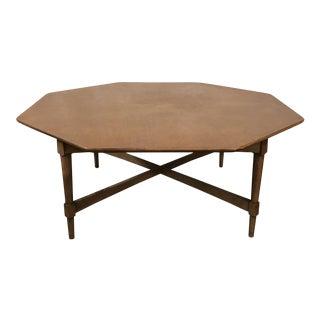 Mid-Century Octagon Coffee Table