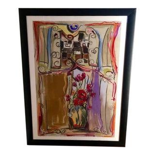 """Valerie Ross """"Scarlet Bloom"""" Painting"""