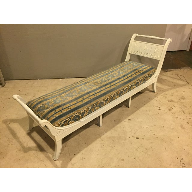 Antique 1920s White Directoire Style Chaise Lounge - Image 2 of 11