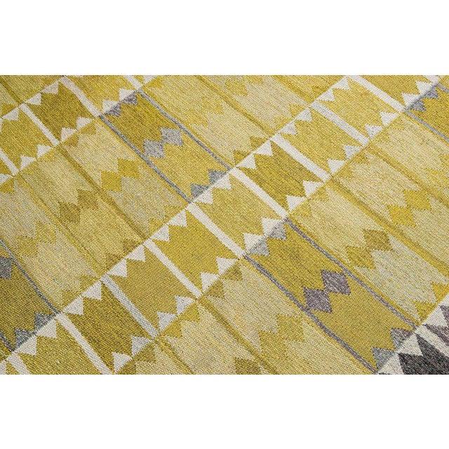 Vintage Ingrid Dessau Flat-Weave Swedish Carpet - Image 5 of 7