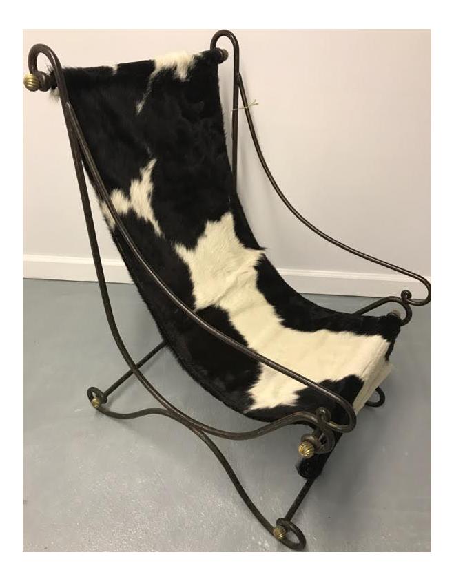 Italian Cowhide Sling Chair