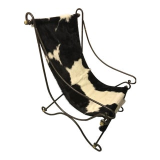 Italian Cowhide Sling Chair