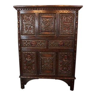 Renaissance Revival Oak Cupboard