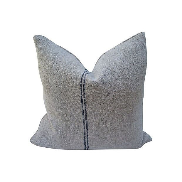 Striped Linen Feed Bag Pillows - Set of 3 - Image 2 of 5